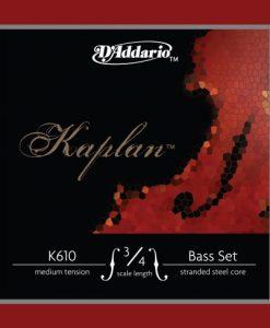 D'Addario Kaplan Bass String Set, 3/4 Scale, Medium Tension